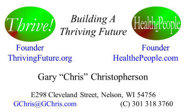 Thrive and HealthePeople business card